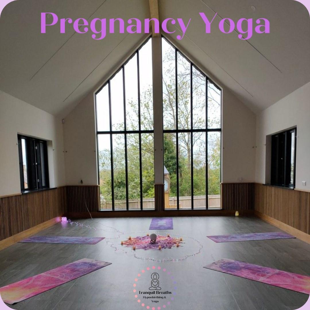 Bow-Brickhill-Community-Hall-The-Setup-For-Pregnancy-Yoga-In-Main-Hall
