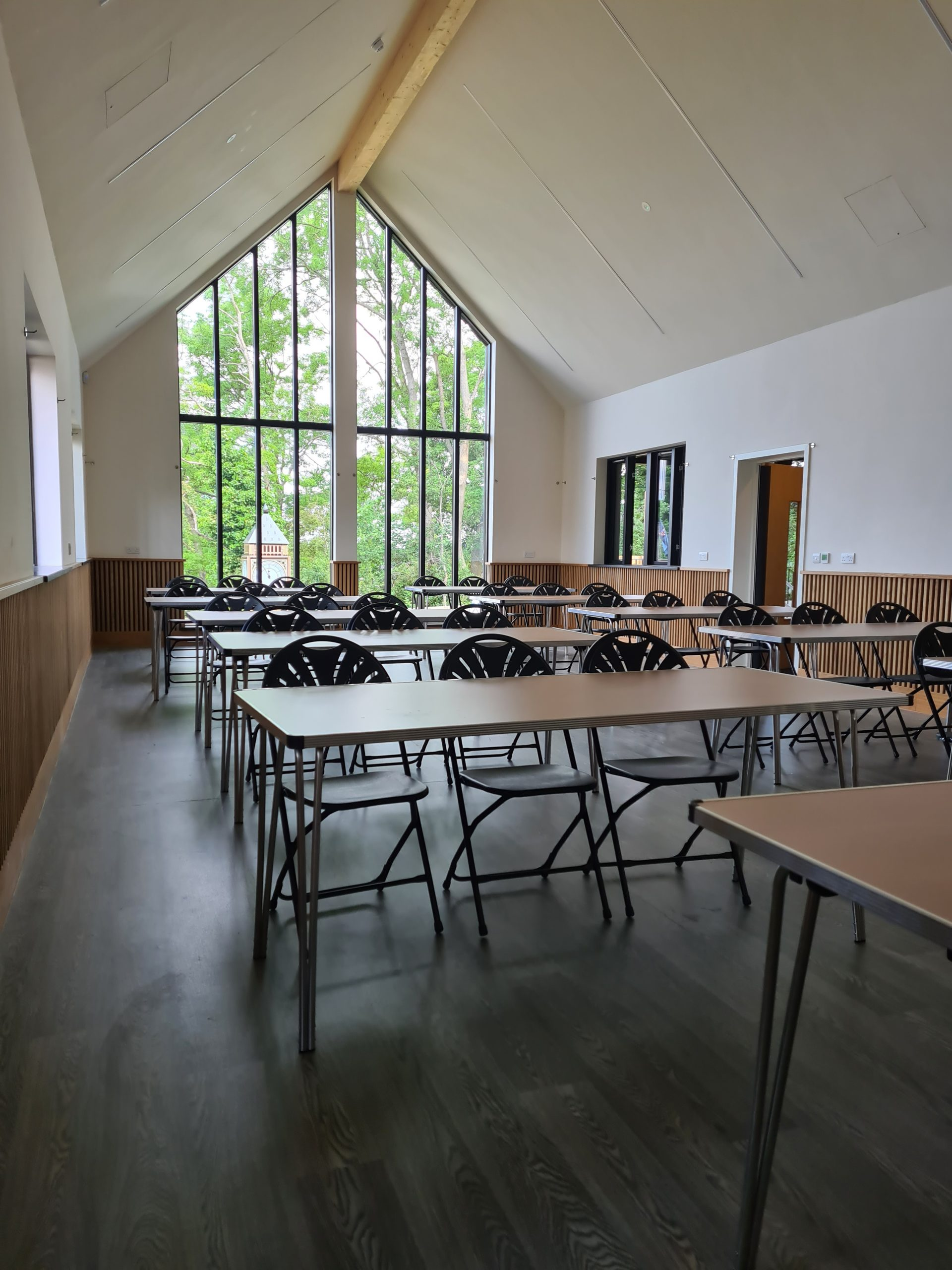 Bow-Brickhill-Community-Hall-The-Setup-for-Event-In-Main-Hall